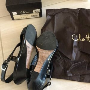 Cole Haan Shoes - Cole Haan Black Air Darleen Sandal Wedge